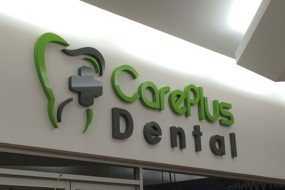 signs-edinburgh-3D-Letters-Built-up-care-dental-sign
