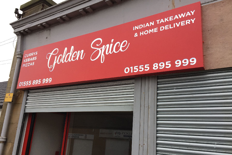 signs-edinburgh-light-box-signs-edinburgh-golden-spice-sign