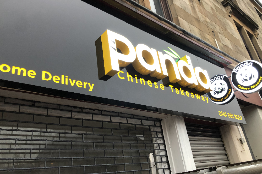 Signs Glasgow Panda 3D Light Letters Light Box Signs Barrhead Glasgow Edinburgh Signs 1
