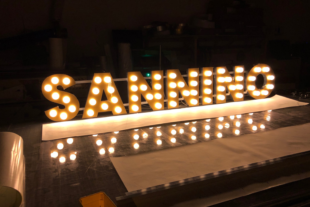 Signs Glasgow Sannino 3d Light Letters Light Box Signs Glasgow Edinburgh Signs