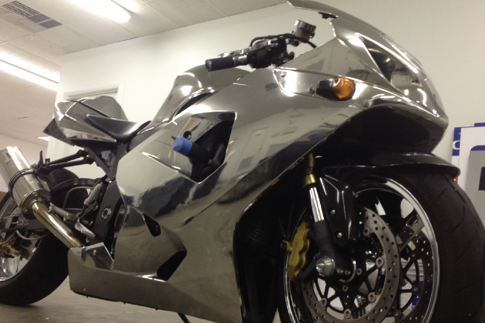 Chrome Bike Wrap